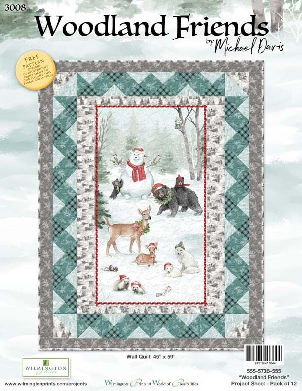 Woodland Friends Panel Wall Hanging Quilt Kit
