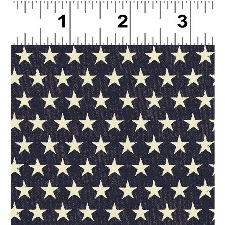 y2416-95 Denim w_Cream Stars Land That I Love Dan DiPaolo