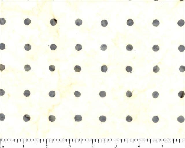 8177-0112_White w Gray Dots Parts Dept Batik