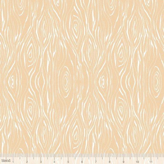 112.112.07.1 Beige Woodgrain Garden Girls by Cori Dantini Blend Fabrics