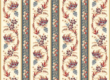 American Beauty border print by Red Rooster