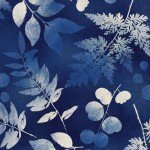 Blue Large Leaves  Allover from Wilmington Prints