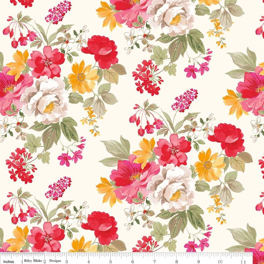 Farmhouse Floral Main floral in Cream C6880-Cream