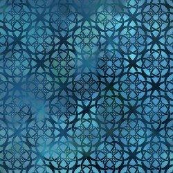 Diaphanous Turquoise Trellis