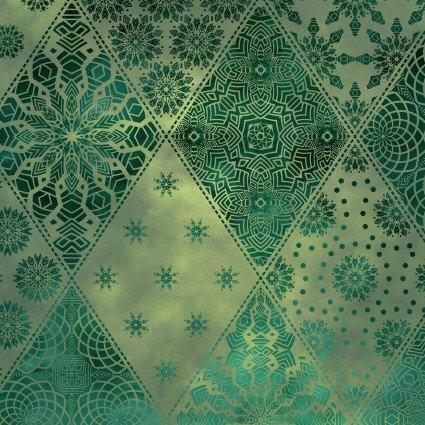 Seasons Diamonds Green by Jason Yenter for In the Beginning
