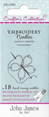 Embroidery Needles, John James -JJCC004