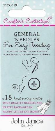 Large Eye/Easy Threading Needles, John James