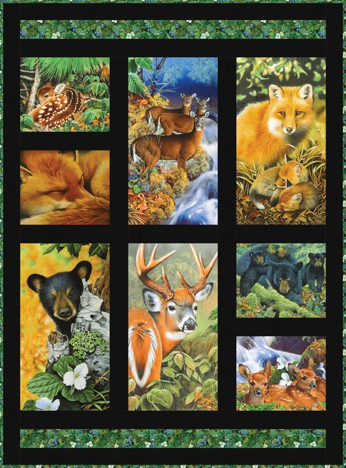 Forestry featuring panels from the American Wildlife Collection for Robert Kaufman