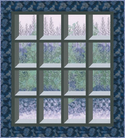 Tranquil Views Periwinkle Quilt KIT
