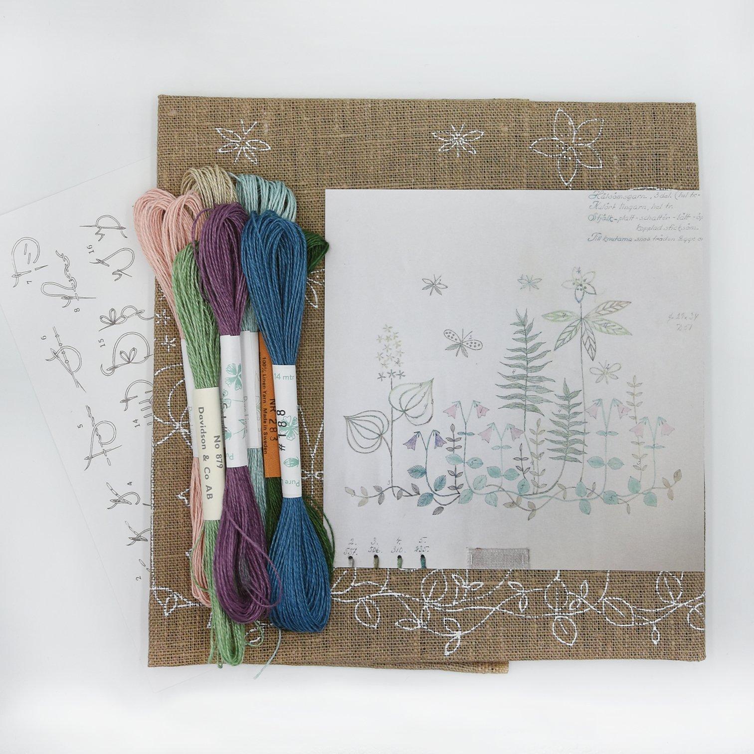 Linladan - Linneaus - Swedish Embroidery Kit 5