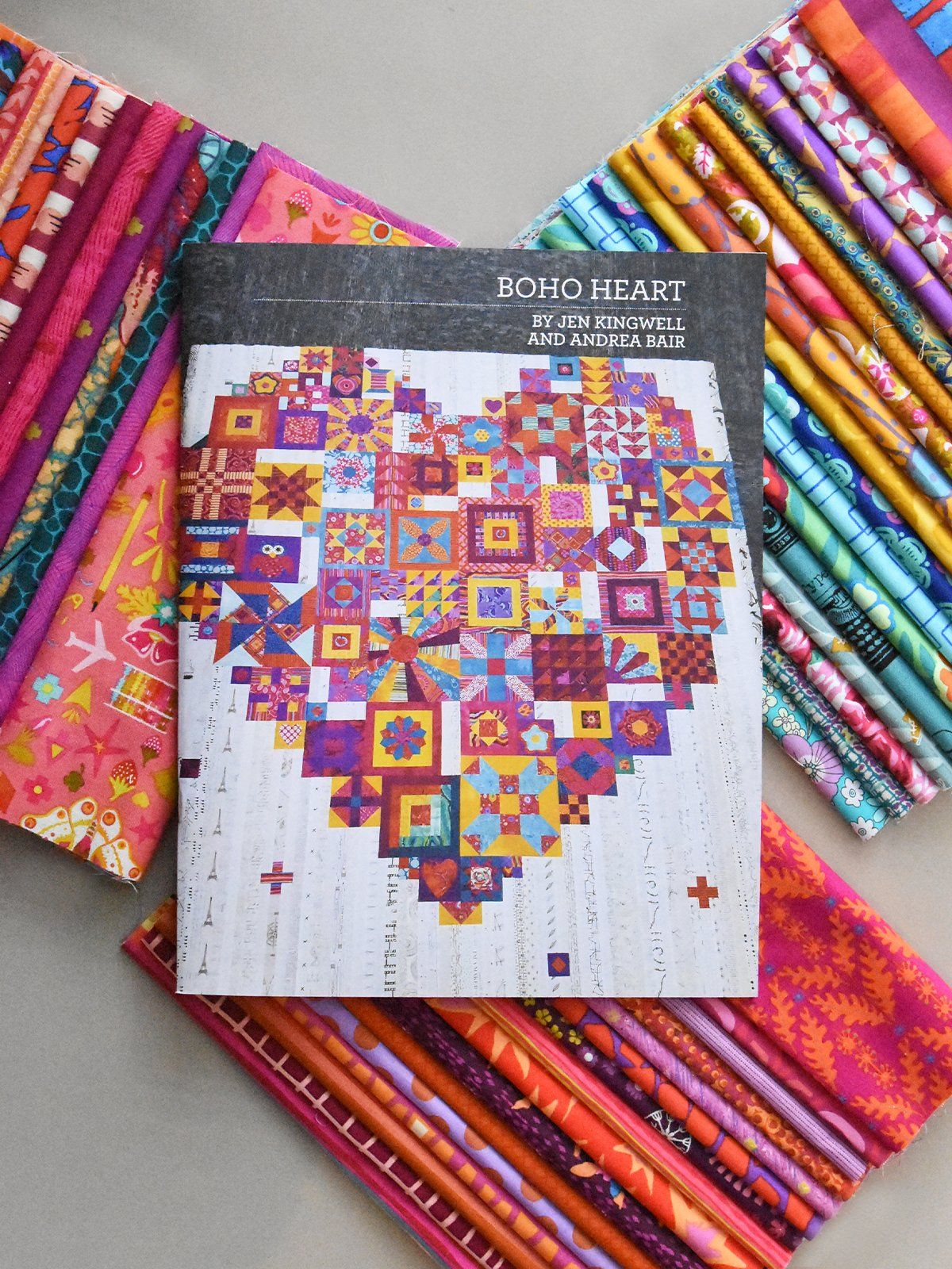 Boho Heart Large Kit - Fabric & Pattern Booklet