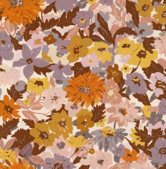 Figo Fabrics - Alison Janssen - Summer's End - Floral Lilac Multi