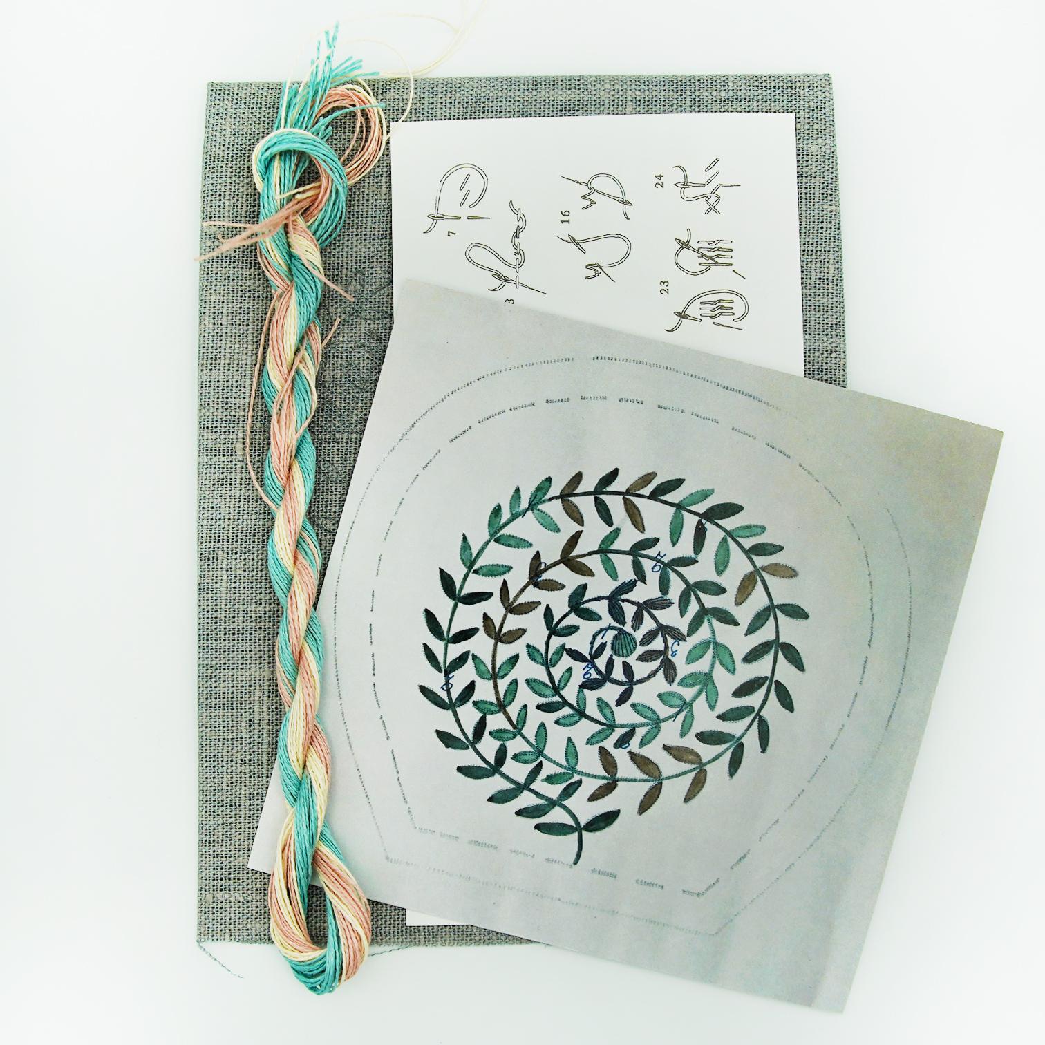 Linladan - Leaf Swirl 6502 - Swedish Embroidery Kit 101