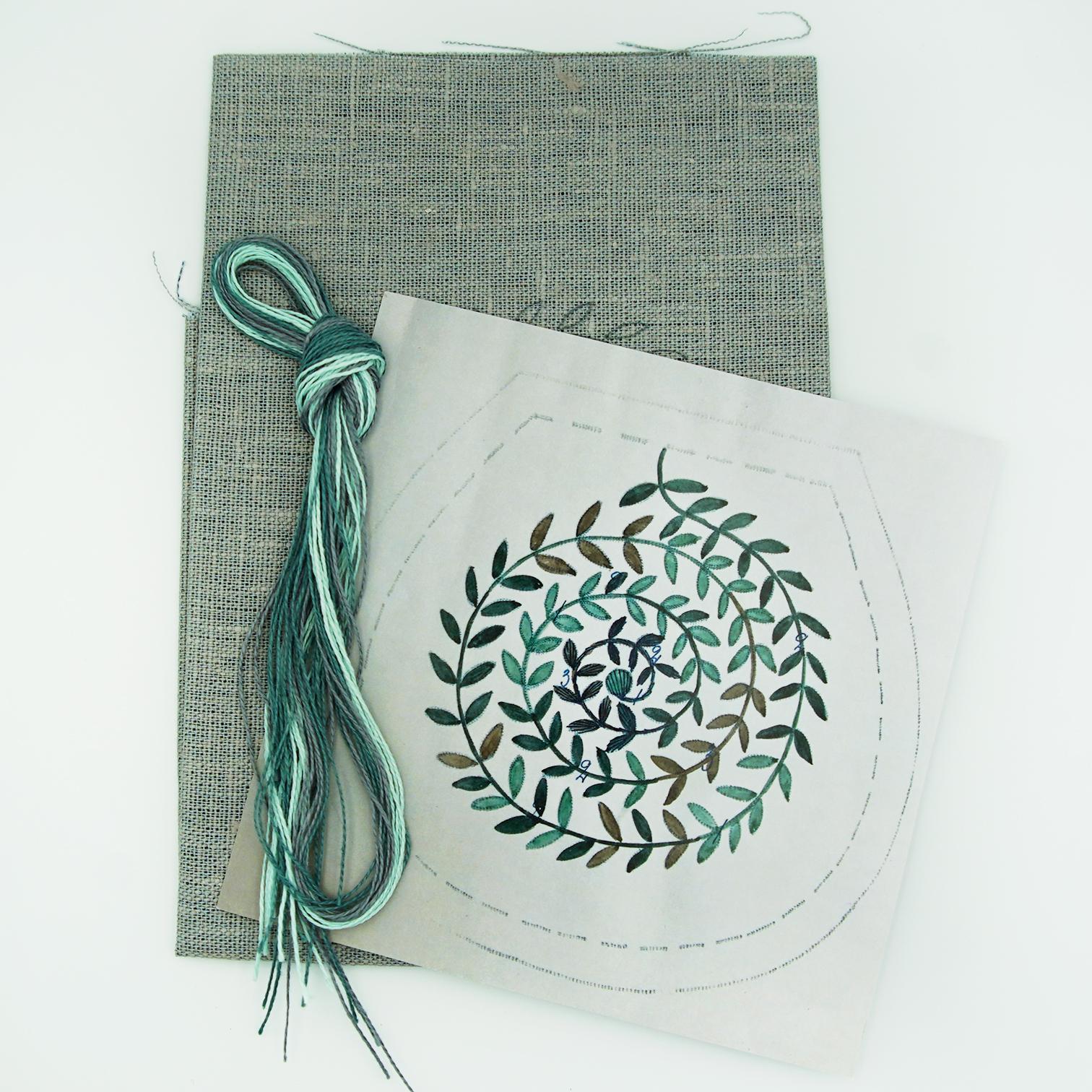 Linladan - Leaf Swirl 6502 - Swedish Embroidery Kit 103