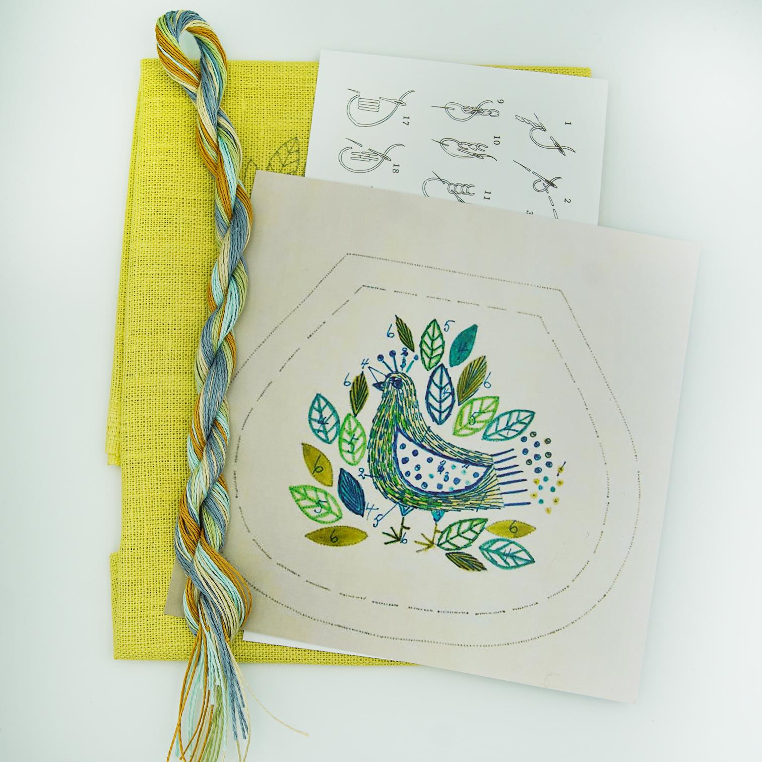 Linladan - Bird 6412 - Swedish Embroidery Kit 109