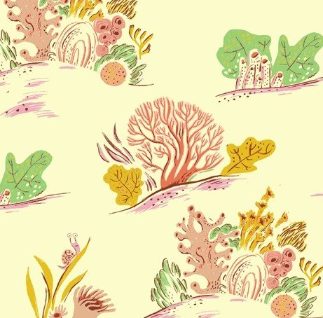 Windham Fabrics - Heather Ross - Malibu - Coral #3