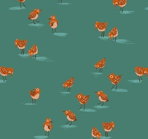 Windham Fabrics - Heather Ross - Malibu - Birds #3