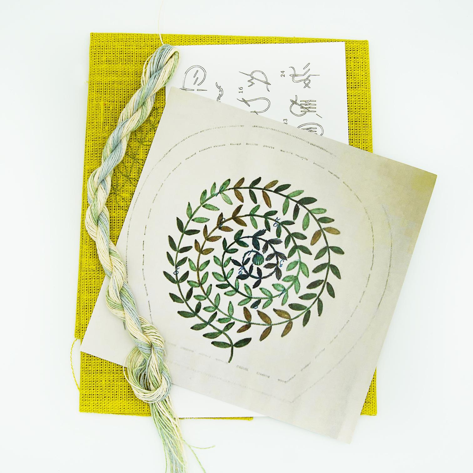 Linladan - Leaf Swirl 6502 - Swedish Embroidery Kit 116