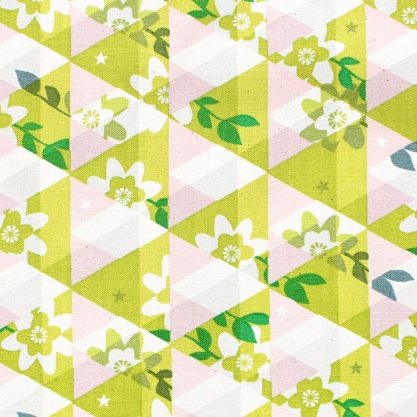 Cotton & Steel - Melody Miller - Flutter - Kaleidoscope Citron