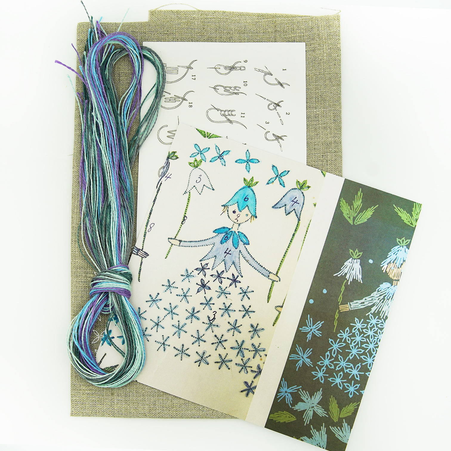 Linladan - Bluebell Girl - Swedish Embroidery Kit 136