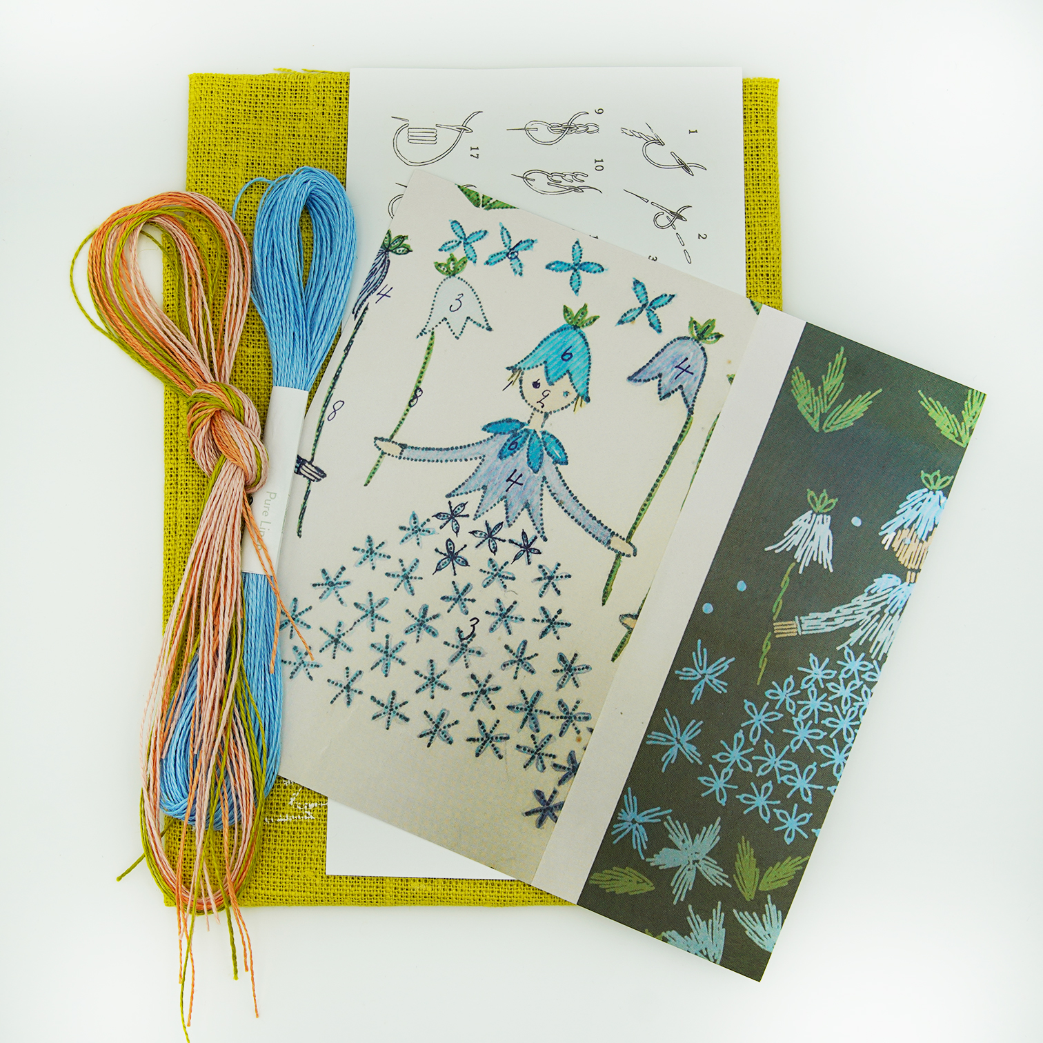 Linladan - Bluebell Girl - Swedish Embroidery Kit 141