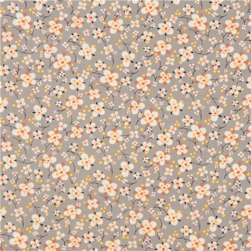 Alexander Henry Fabrics - Farmdale Blossom - Grey