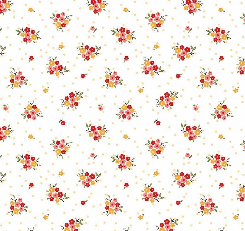 Riley Blake Designs - Sweet Prairie - Posie - White