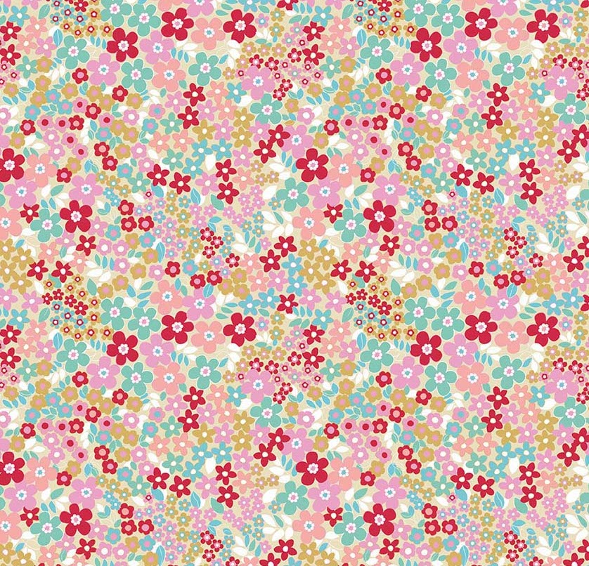 Riley Blake Designs - Forget Me Not - Fields - Red