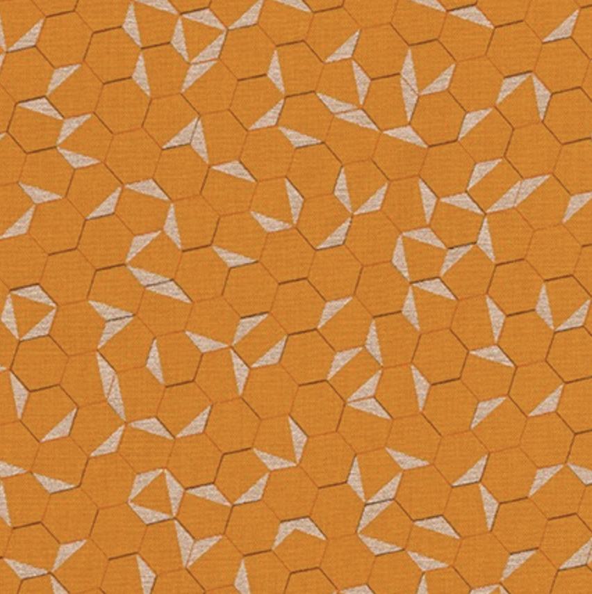 Shimmer On - Orange Hexagons - Jennifer Sampou