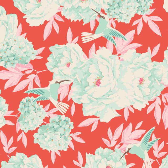 Tilda - Tone Finnanger - Lemon Tree - Hummingbird - Coral