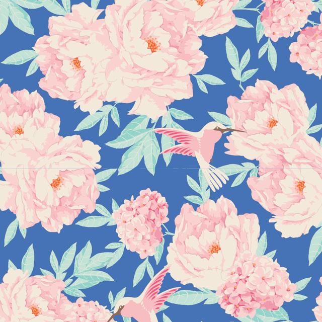 Tilda - Tone Finnanger - Lemon Tree - Hummingbird - Blue