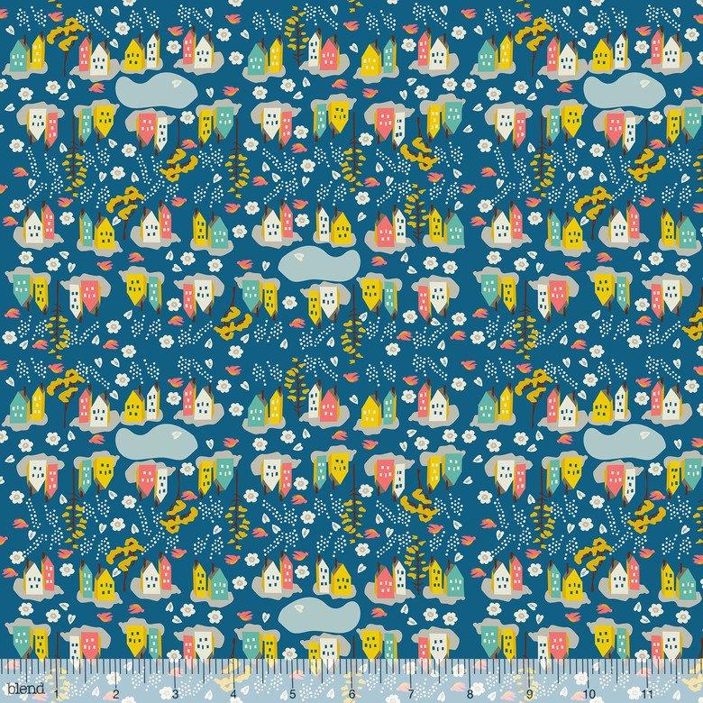 Blend Fabrics - Elizabeth Grubaugh - Caravan - Neighbourhood Blue