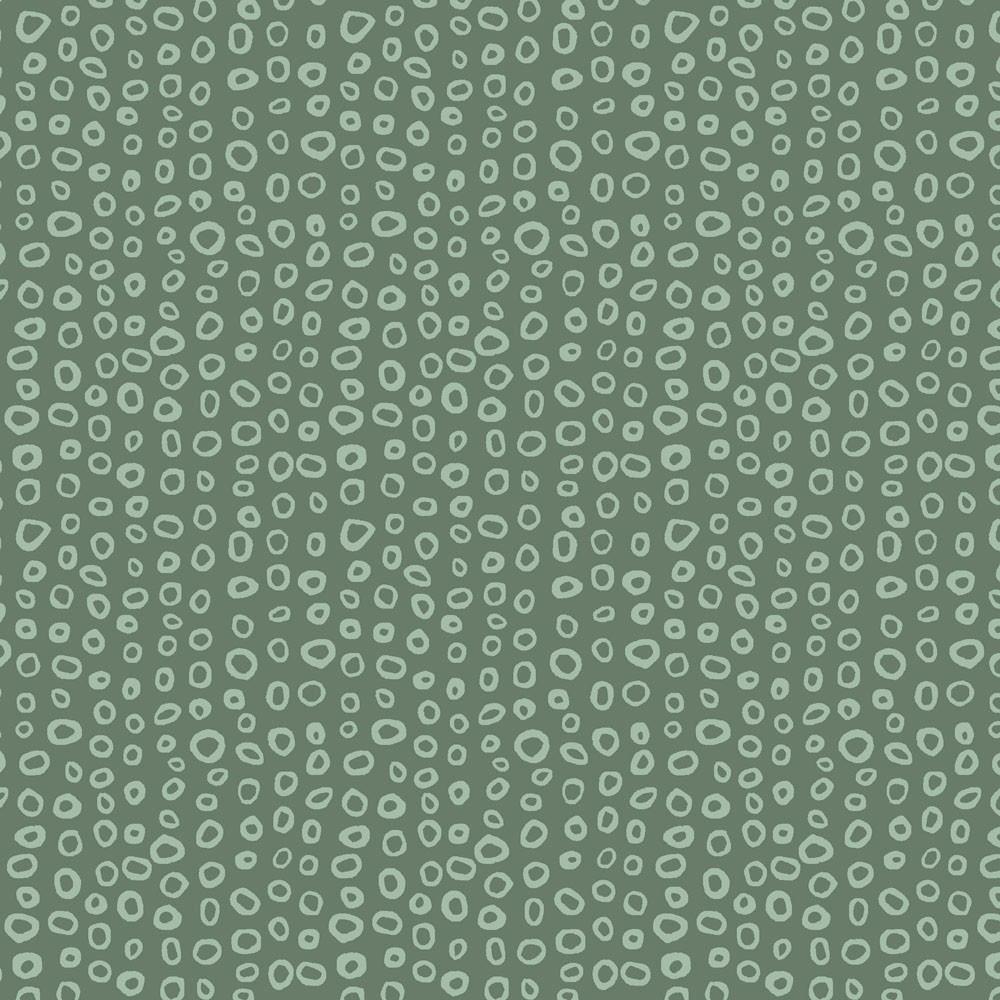 Stof Fabrics - Dot Mania - Asymmetric Dot - Green