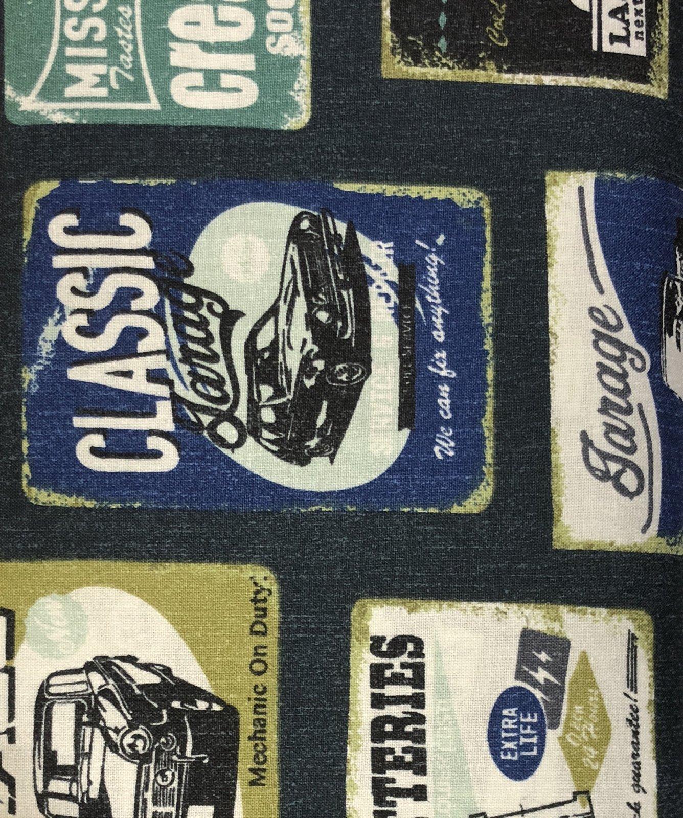 Kokka Fabrics - Vintage - Navy
