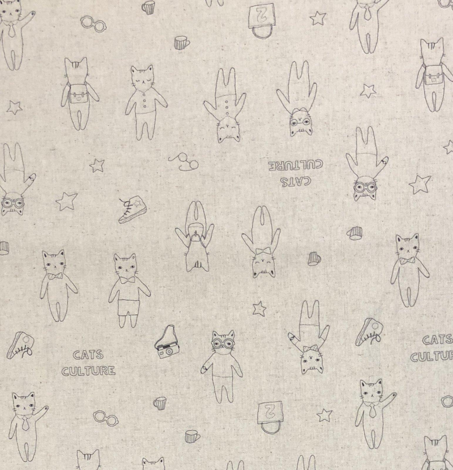 Lecien - Collection - Cats Culture - Beige