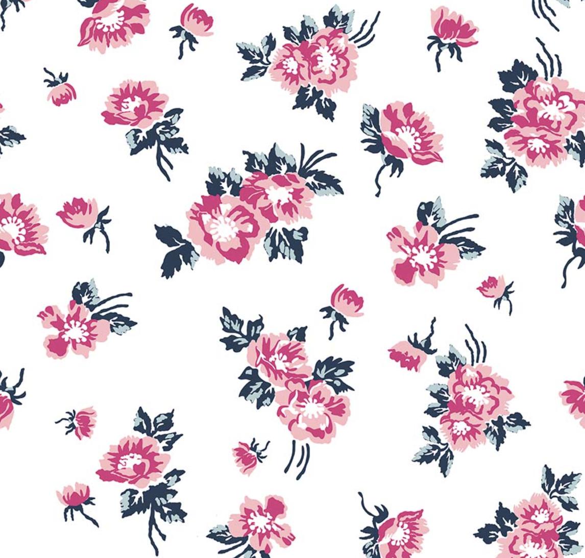 Riley Blake Designs - Melissa Mortenson - Derby Day - Floral - White