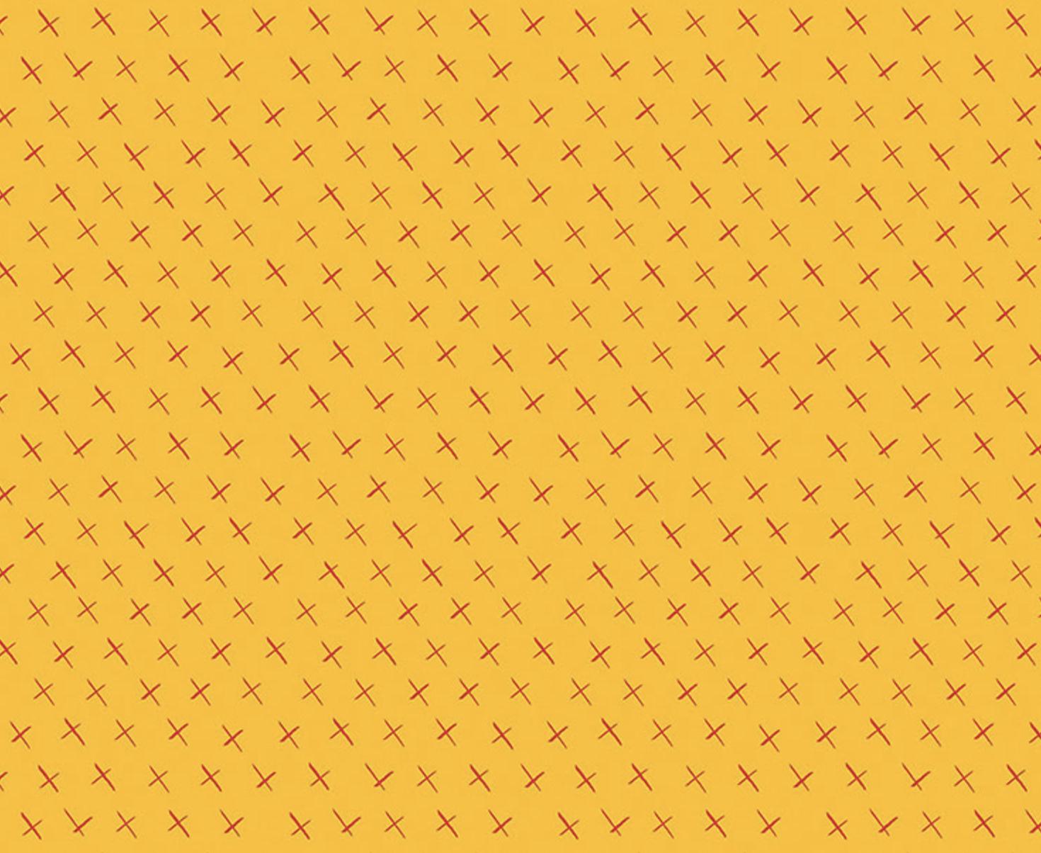 Benartex Fabrics - Christa Watson - Modern Marks - Crossmarks - Gold