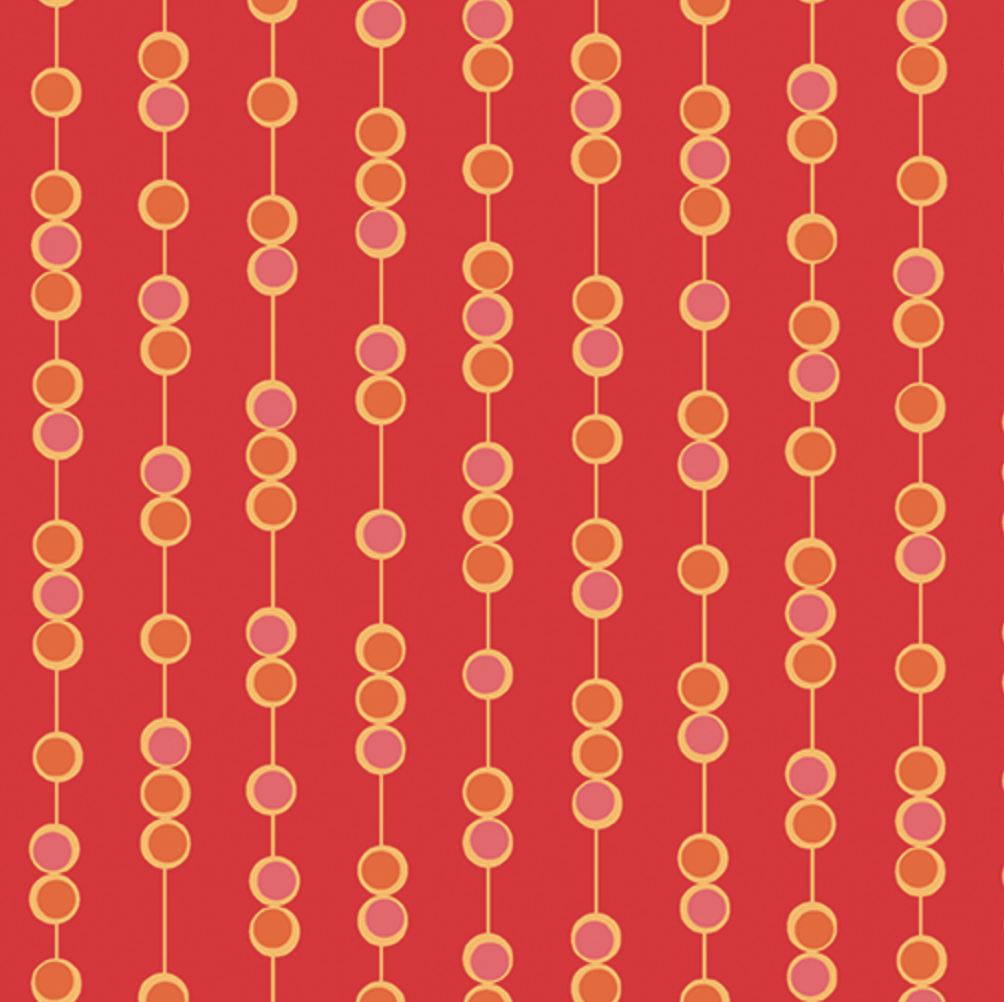 Benartex - Amanda Murphy - Free-Motion Fanatsy - On A String - Red