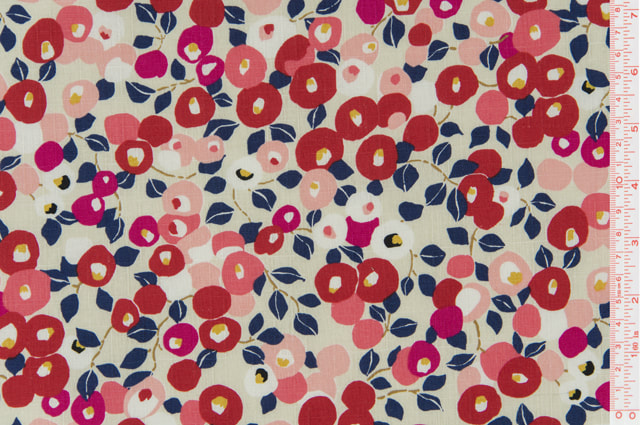 Cosmo Textiles - Florals - White / Red - AP85206-1-A