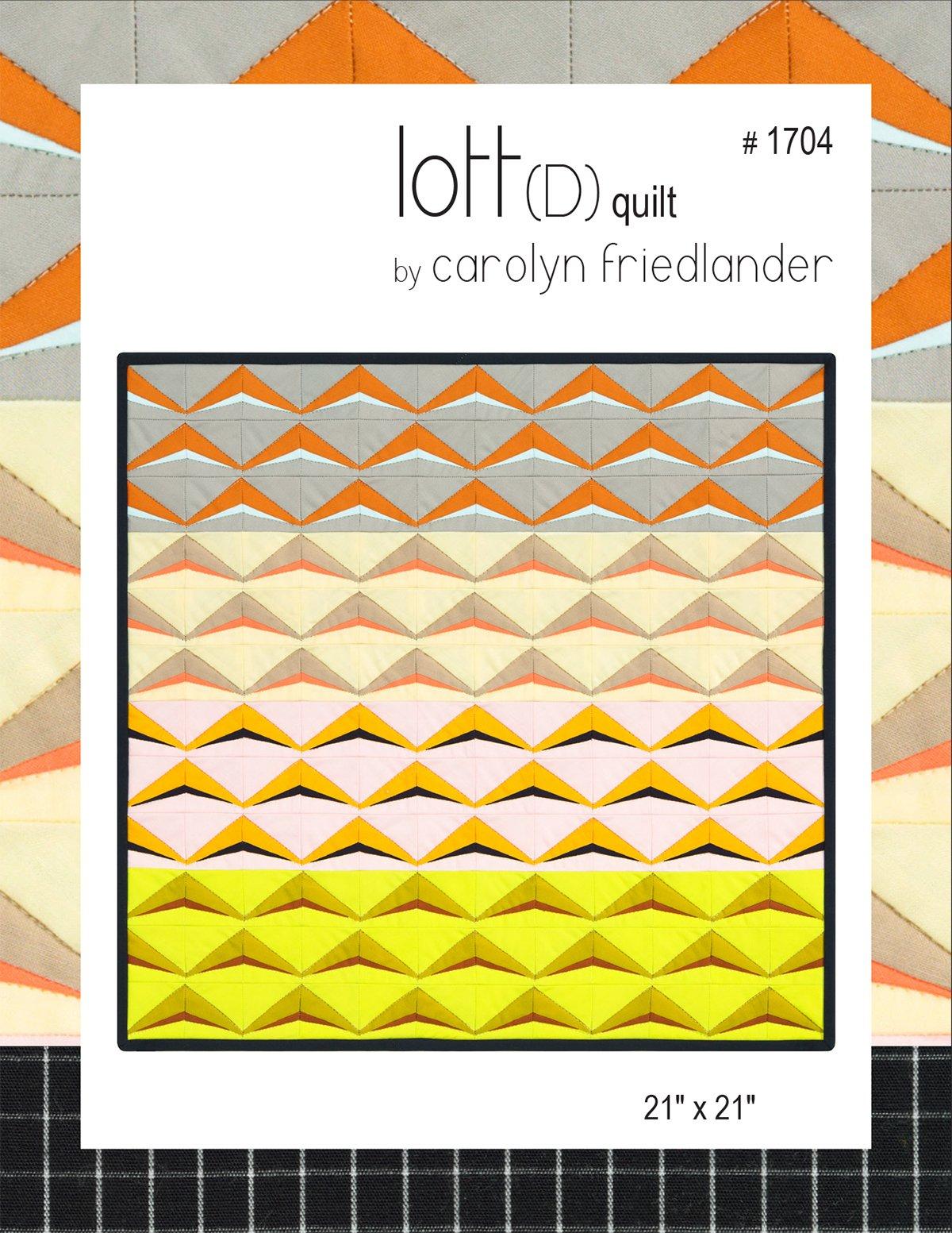 Lott D Quilt Pattern by Carolyn Friedlander
