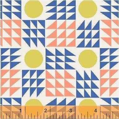 Windham Fabrics - Annabel Wrigley - Penelope - Blue Neo Geo
