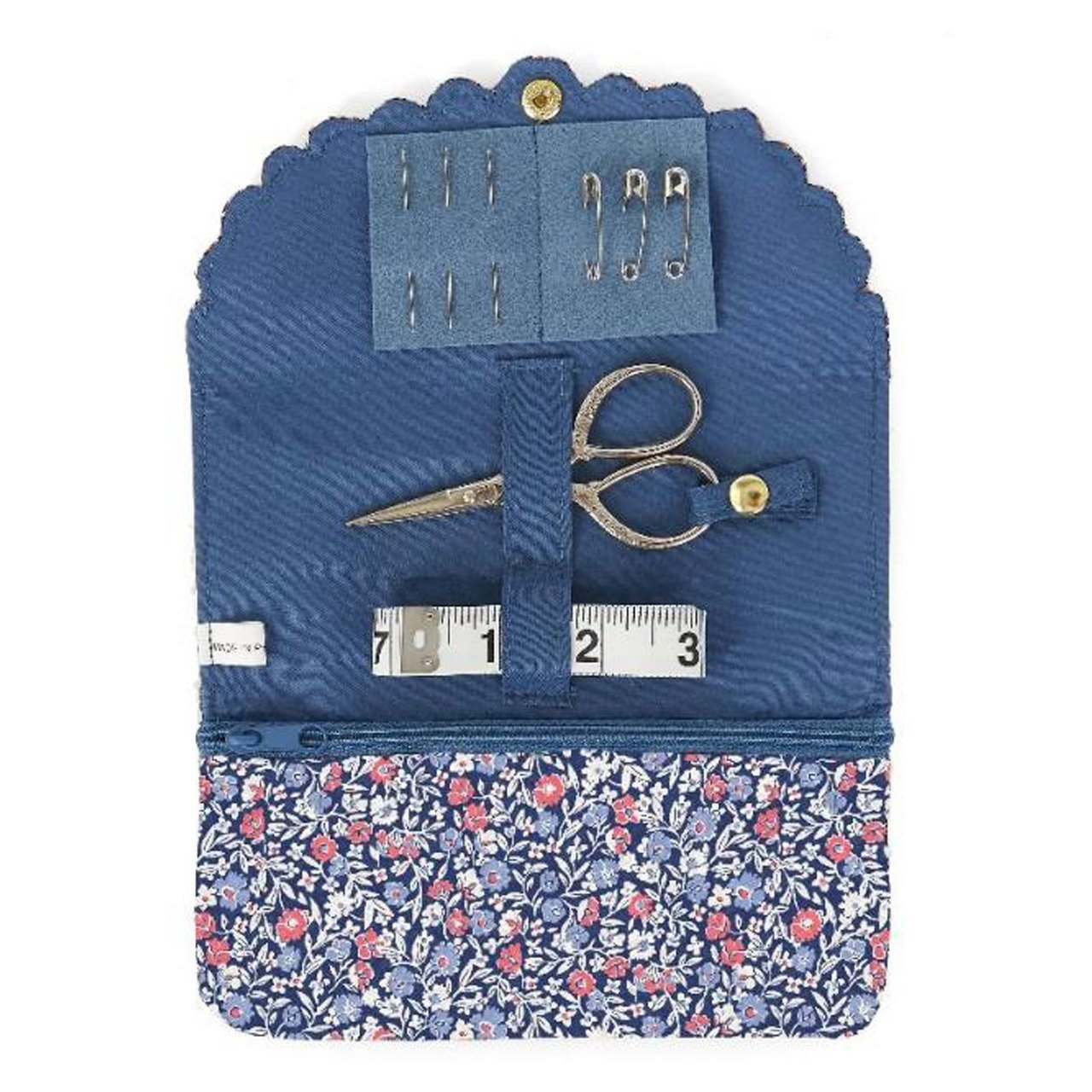 Liberty - Primula Dawn Sewing Roll - Floral Blue