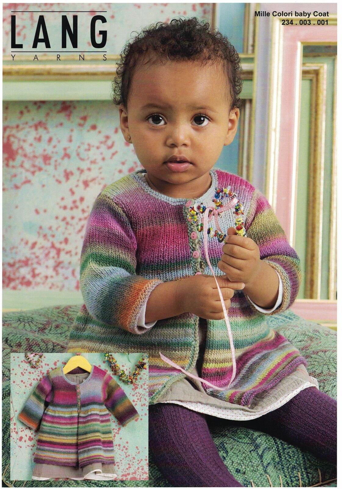 Lang Yarns - Mille Colori Baby Coat - Pattern Leaflet