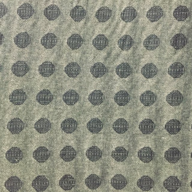 Handworks - Cotton Dobby - Textured Dot - Charcoal