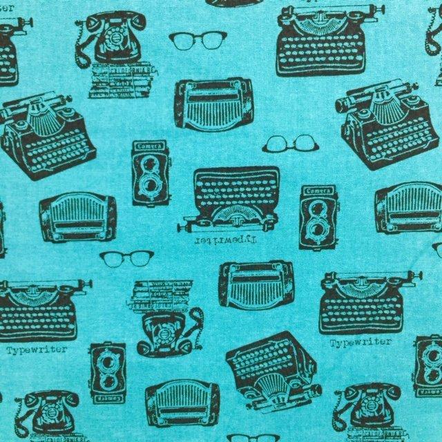 Sevenberry - Typewriters - Black on Teal