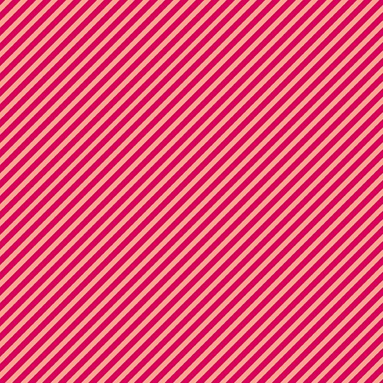 Andover - Sweet Shoppe Too - Diagonal Stripe - Pink