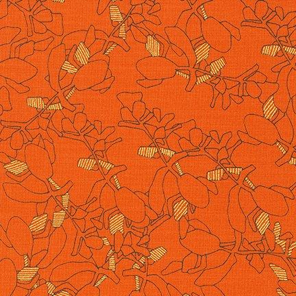 Robert Kaufman - Carolyn Friedlander - Collection of Metallic - Orangeade