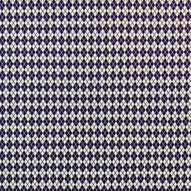 Sevenberry - Diamond Check - Purple and White