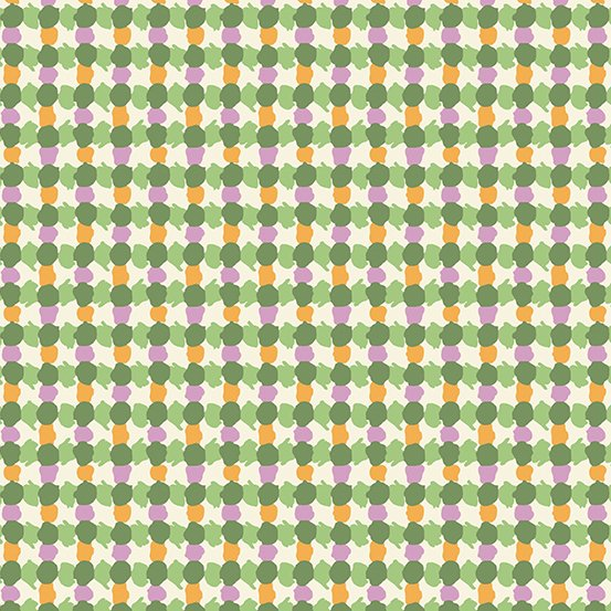 Andover - Darling Clementine - Daubs Grid - Green