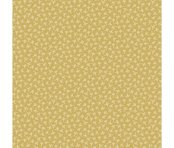 Henry Glass - Anni Downs - Tealicious - Tea Leaf Texture - Yellow